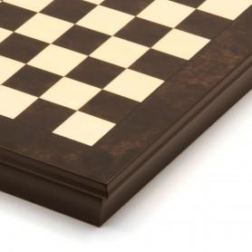 Scacchiera contenitore intarsiata legno noce e acero naturale lucidato