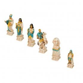 Scacchi Battaglia di Azio - Romani Vs Egiziani  in alabastro e resina dipinti a mano