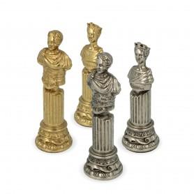 Scacchi Roma Imperiale in metallo zama rifiniti a mano realizzazione artigianale