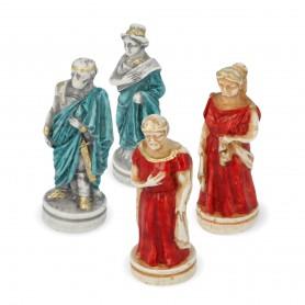 Scacchi Battaglia di Troia - Sparta Vs Troia in alabastro e resina dipinti a mano