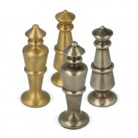 Scacchi classici stilizzati in metallo ottone tornito e rifiniti a mano