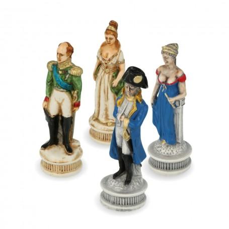 Scacchi Battaglia di Borodino in alabastro e resina dipinti a mano