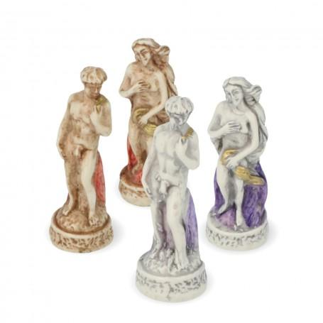 Scacchi Firenze ed i suoi Monumenti in alabastro e resina dipinti a mano.