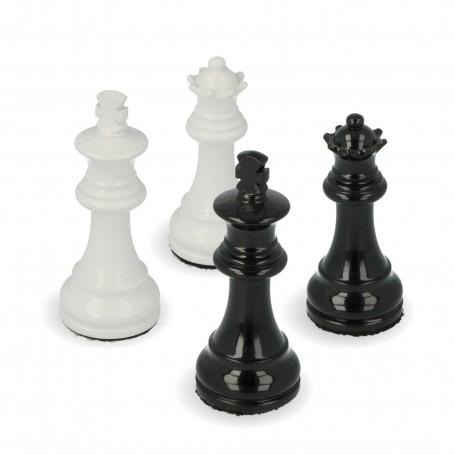 Scacchi classici Staunton in legno laccato lucido bianco e nero