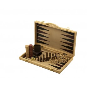 Backgammon e scacchi - valigetta con gioco del backgammon e scacchiera con gioco degli scacchi
