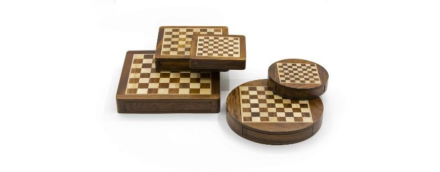 Scacchi scacchiera dama magnetici completi in legno