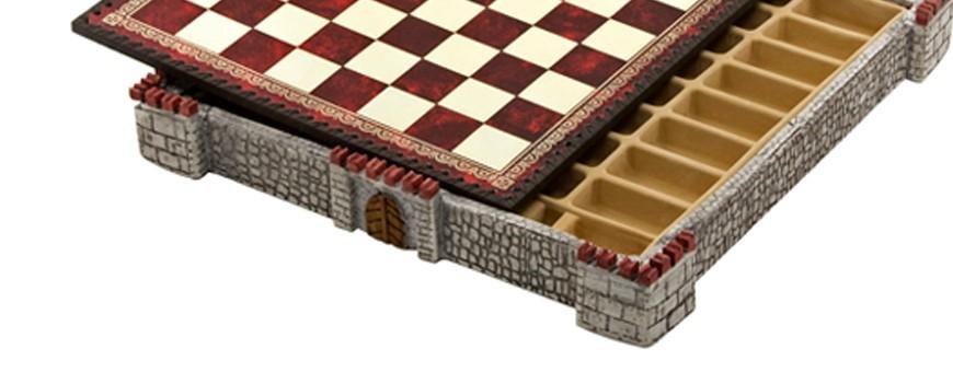 Scacchiere artigianali in legno, in radica, in similpelle fatte a mano